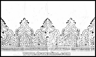 Simple saree design for drawing/Saree design drawing images for free