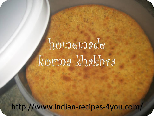 homemade korma khakhra recipe