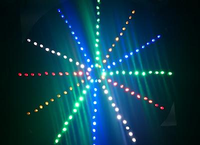LED flasher using Arduino Nano and 132 LEDs