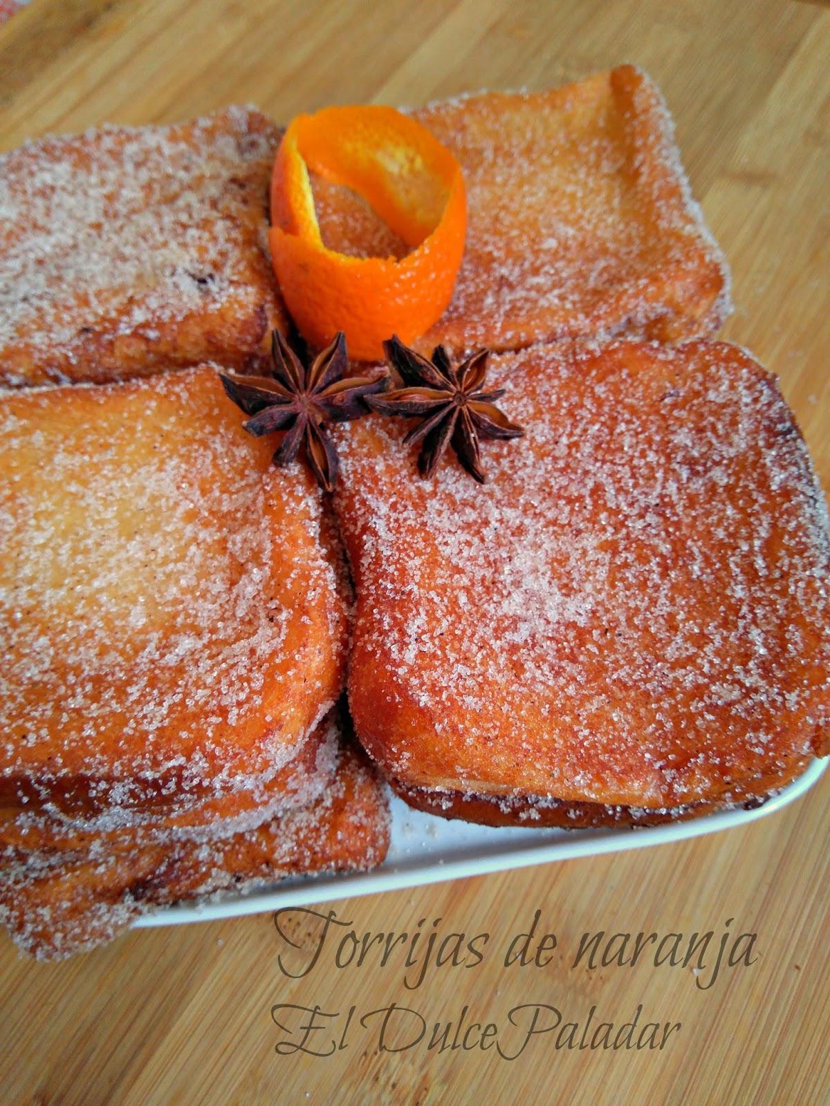 Torrijas de anís y naranja