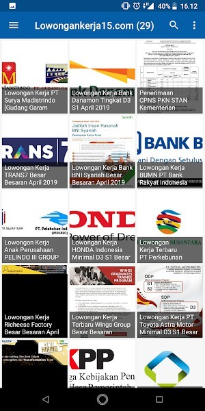 aplikasi Info Lowongan Kerja Indonesia