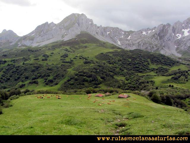 Ruta Lindes - Peña Rueda - Foix Grande: De camino a la Cardosina