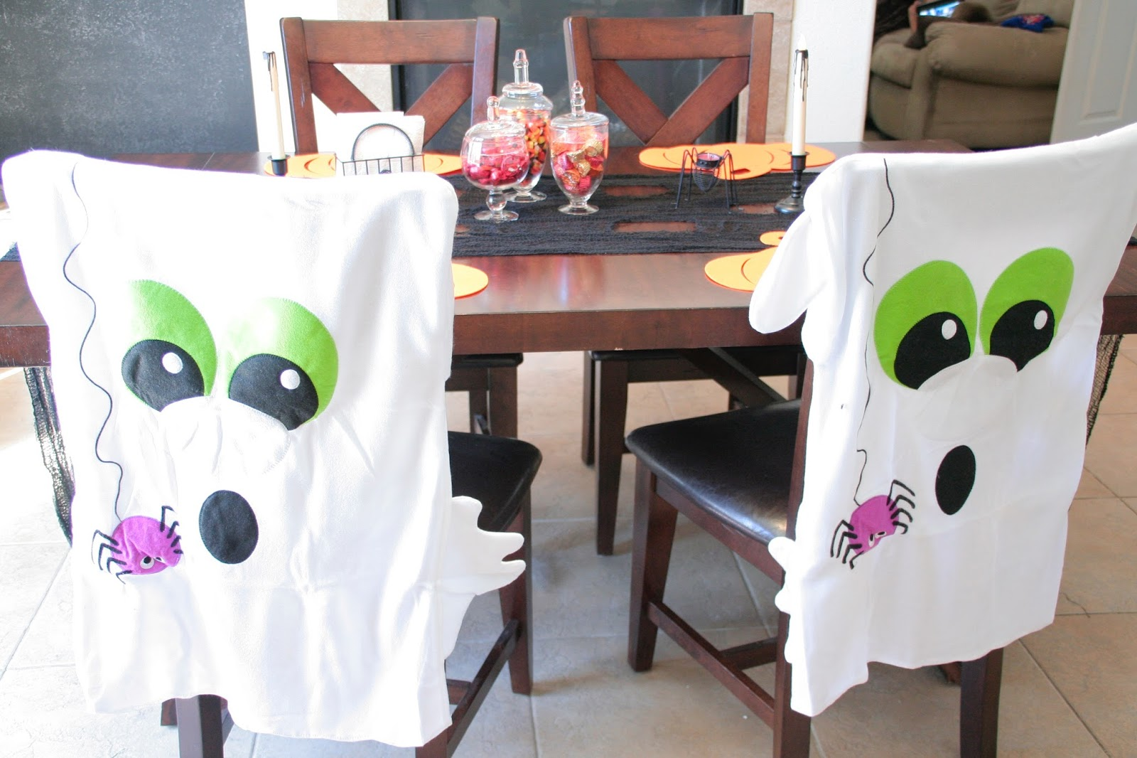 chair covers oriental trading wooden table chairs create a simple spooky halloween we got the funk