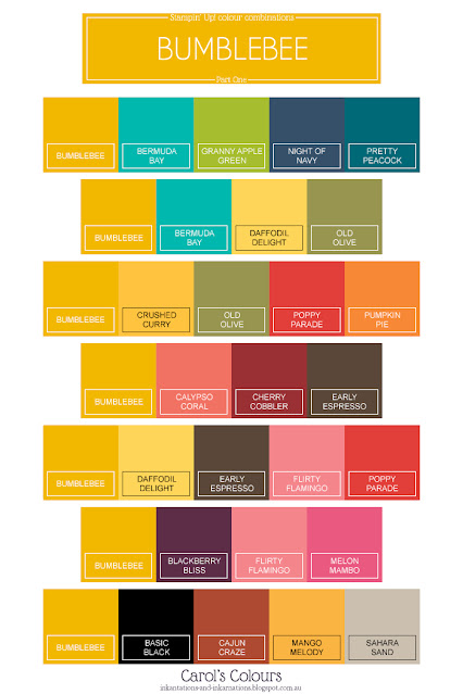 Bumblebee colour combinations graphic Part One