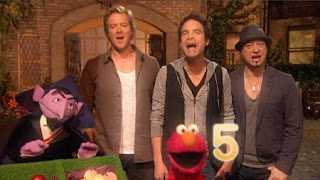 Five By is a song performed by Train with Elmo and Count von Count. Sesame Street The Best of Elmo 3