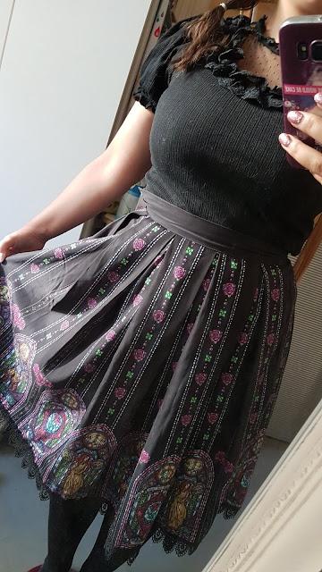 beaut and the beast skirt and black liz lisa top himekaji japanese fashion jfashion