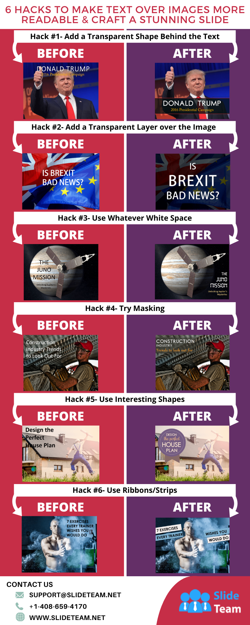 11 Hacks to Make Text Over Images More Readable & Craft a Stunning Slide #infographic