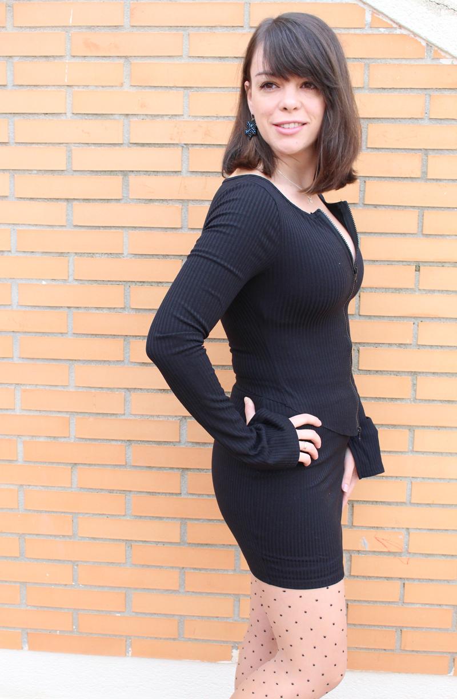 Conjunto falda negro