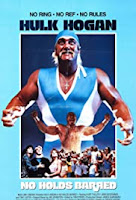 Hulk Hogan in a blue and white wrestling outfit