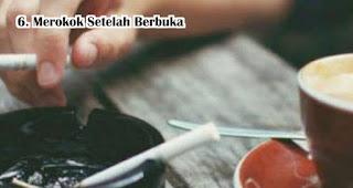 Merokok Setelah Berbuka harus dihindari saat berbuka puasa