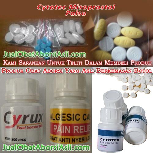 Ciri-ciri obat aborsi cytotec misoprostol asli dan palsu