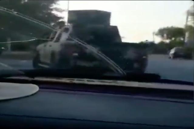 Video: Por las calles circulando de la frontera y con armas adaptadas listas para disparar; así fueron captados Sicarios del CDG en Camargo, Tamaulipas