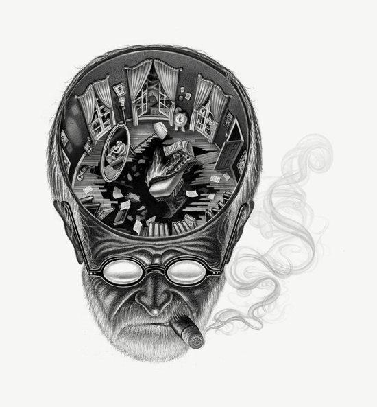 Armando Veve arte ilustrações desenhos surreais preto e branco grafite revistas