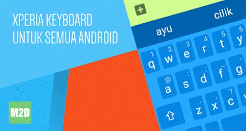 Xperia Keyboard APK Terbaru