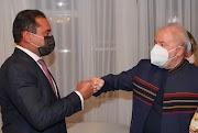 Senador Weverton Rocha e ex-presidente Lula se reúnem em Brasília