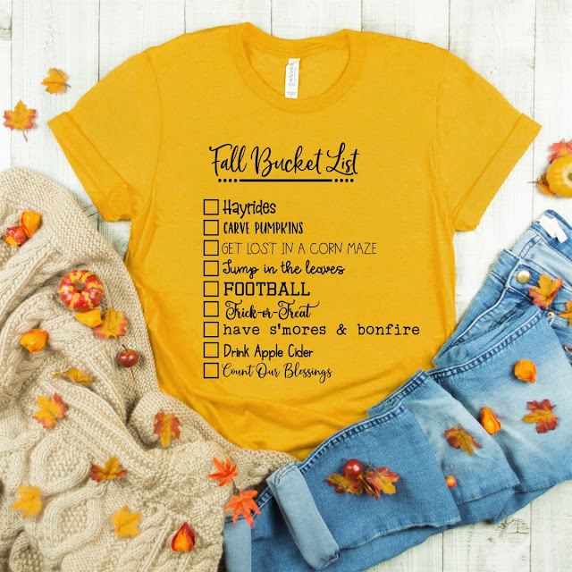 Confessions of a Frugal Mind: Fall Bucket List Tees $12 99