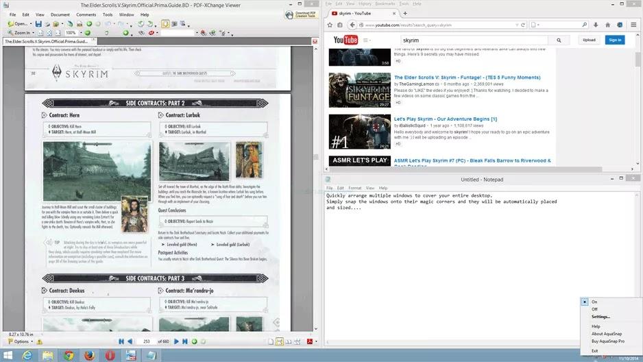 تحميل برنامج AquaSnap Pro 1.23.10 للتعامل مع تطبيقات ونوافذ متعددة