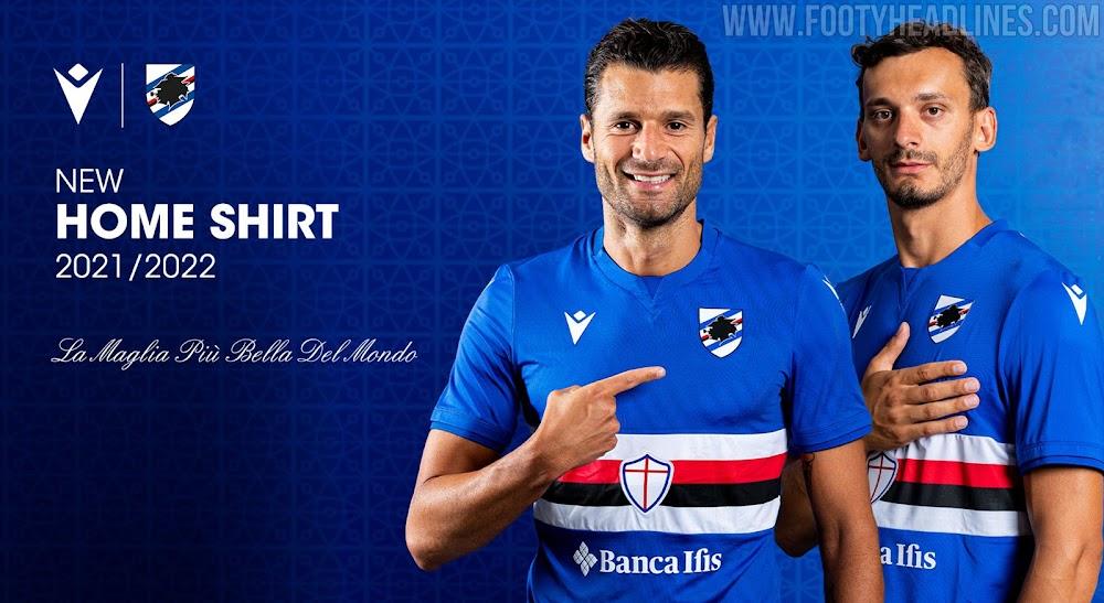 Sampdoria 21-22 Home Kit Released - Footy Headlines