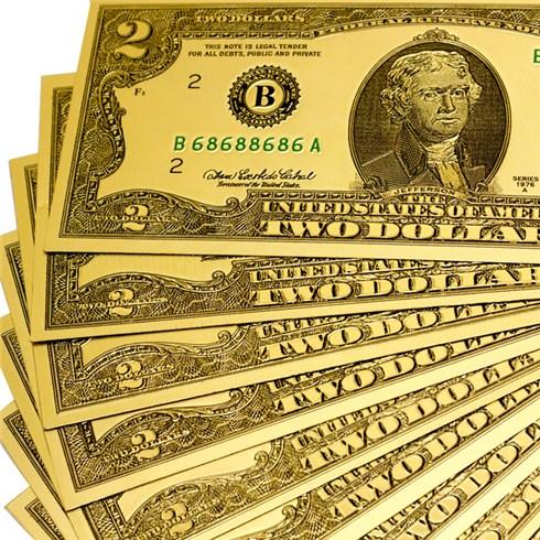 2,2k - Tiền đô lì xì mạ vàng (2$ và 100$) giá sỉ và lẻ rẻ nhất