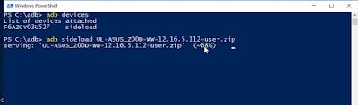 Adb Sideload File name.zip
