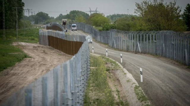 Hungary's border fences along the Hungarian-Serbian border