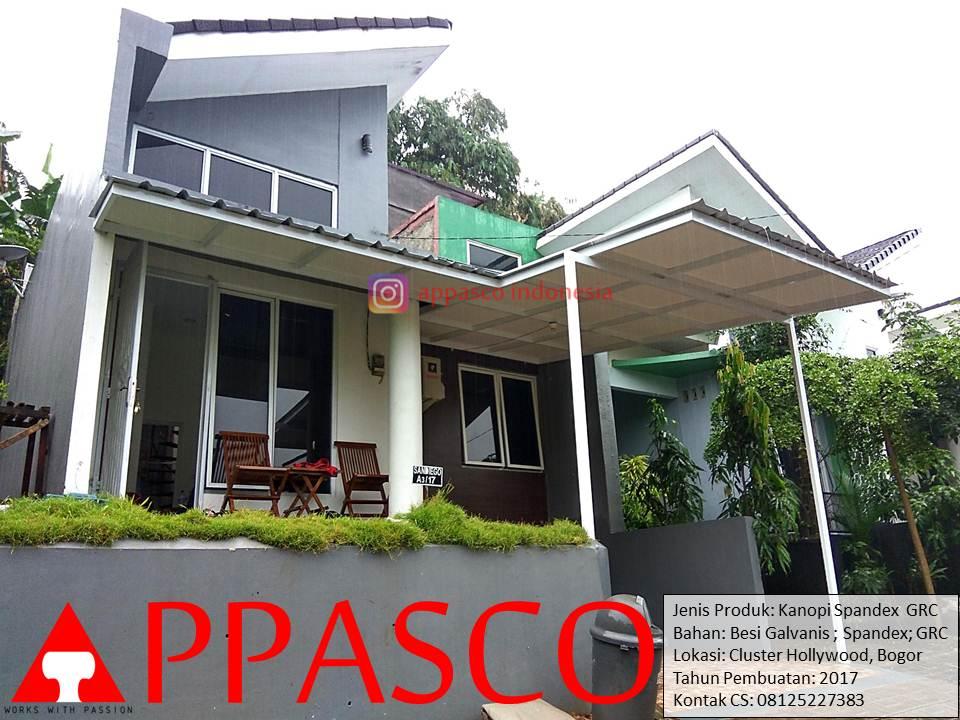 Kanopi Minimalis Spandek GRC di Cluster Hollywood Bogor
