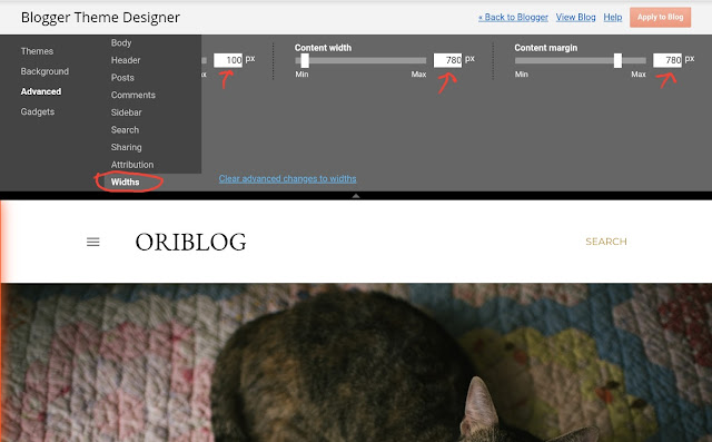 Blogger theme designer