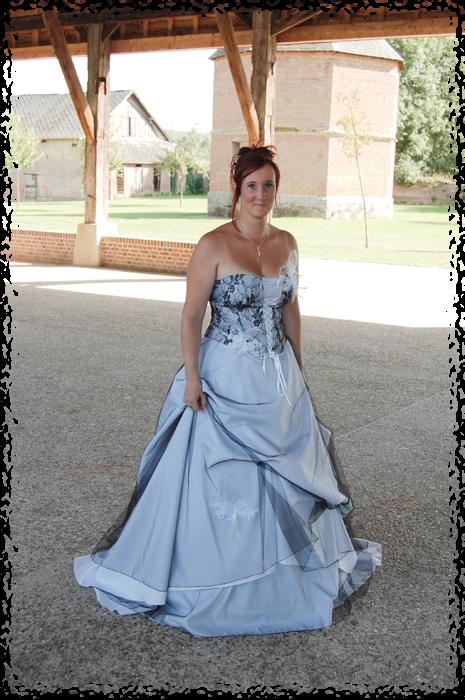 Robe de mariage 2 couleurs