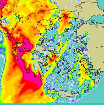 5 - Μπόρες και καταιγίδες σε μεγάλο μέρος της χώρας (+XAΡΤΕΣ ΥΕΤΟΥ)