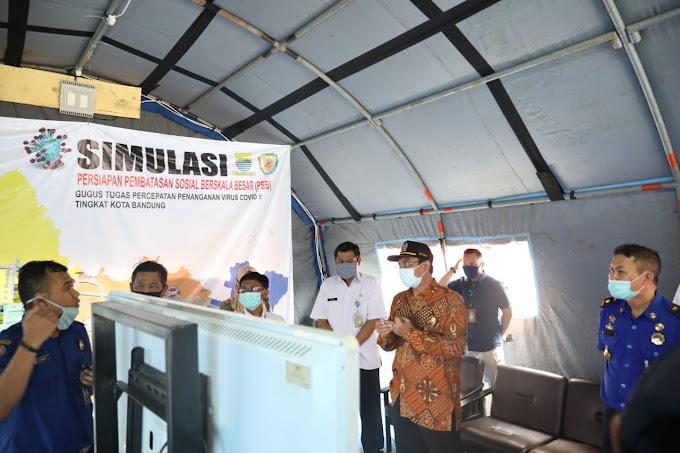 Ketua DPRD Kota Bandung Pemantauan Posko TGTPP Covid-19 di Kantor Diskar PB