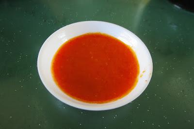Hong Kong Soya Sauce Chicken Noodle Rice (香港玫瑰油鸡麵饭), chilli