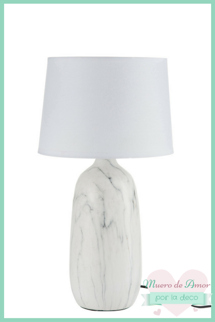 lámpara de mármol