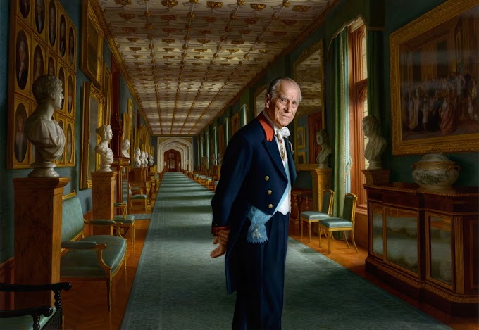 Prince Philip strikes a Pose in New Painting as he Retires from Public Engagements