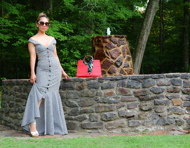 Mermaid gingham maxi