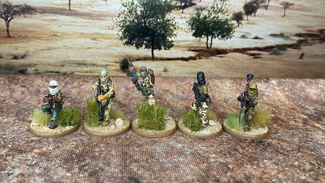 Eureka Miniatures 28mm masked Somali gunmen used as African Islamic terrorist insurgents