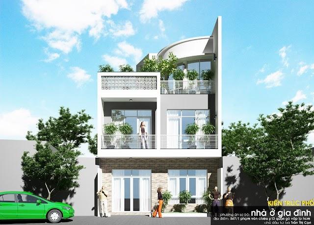 Thiết kế nhà phố đường Phạm Văn Chiêu