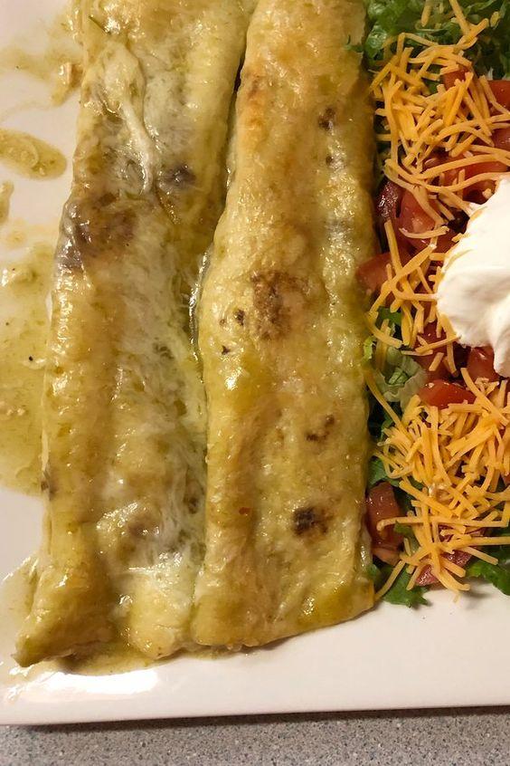 Jalapeno Cream Cheese Chicken Enchiladas Recipe