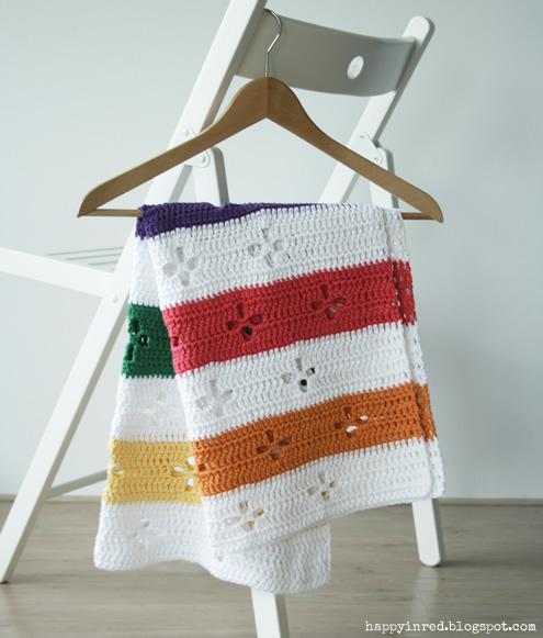 Funky fifties, crochet blanket: pattern   Happy in Red