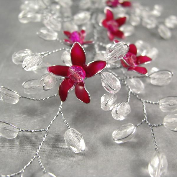 Ślubna ozdoba do włosów z kryształkami