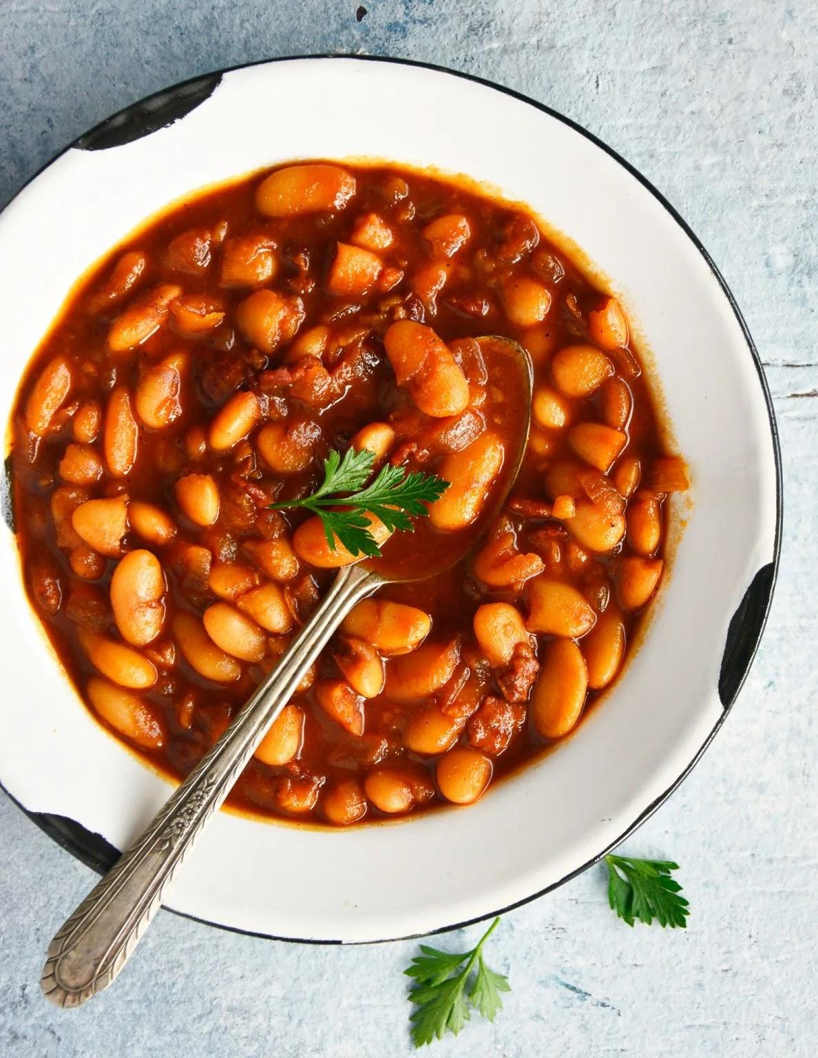 Easy Bacon Baked Beans | Photo Courtesy of A Cedar Spoon