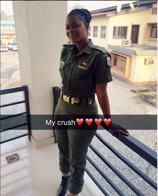 SEE THE PRETTY FEMALE SOLDIER POSTED TO NYSC CAMP IN LAGOS THAT WILL BLOW YOU AWAY (SEE MORE PHOTOS)