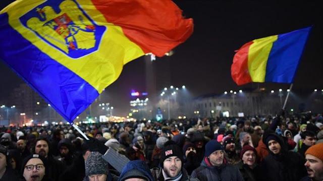 """Protesta """"sin precedentes"""" en Rumania contra la corrupción"""
