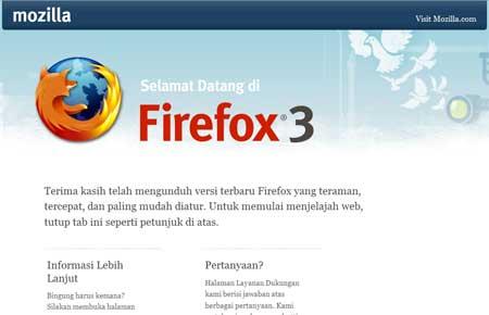Mozilla Firefox 3 Versi Bahasa Indonesia