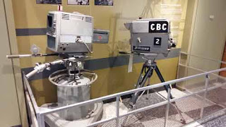 Camera Equipment on Display At CBC Studios Toronto