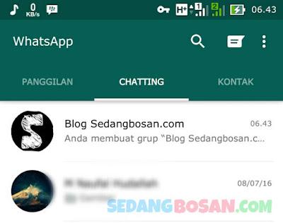 Buat Grup WhatsApp Baru Berhasil