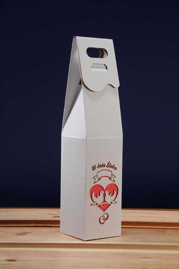 Pudełko na ślub z winem PS3C