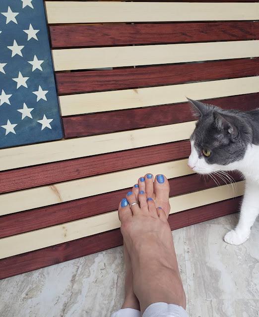 Rustic American flag Zoya nail polish