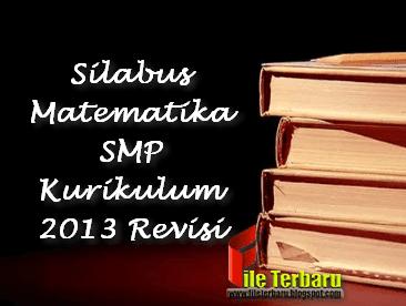 Silabus Matematika SMP Kurikulum 2013 Revisi