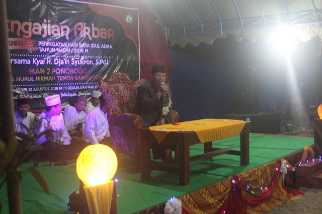 Pengajian Akbar dan Qurban di Desa Temon, Sawoo