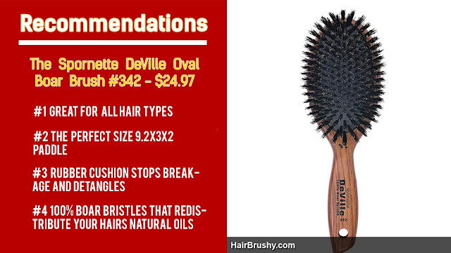 Spornette DeVille oval boar brush